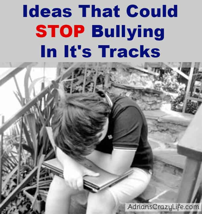 Ideas to Stop Bullying #AdriansCrazyLife My son was severely bullied. I think some of these ideas could have helped. Maybe they will help your child.