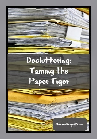 How to Eliminate 90% of Your Paper Clutter - @AdriansCrazyLif Some simple tips to cut waaaay back on the amount of paper you need to keep in your house.