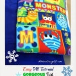 EASY DIY Tutorial for a Gorgeous Tied Fleece Blanket