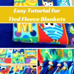 EASY DIY Tutorial for Gorgeous Tied Fleece Blankets