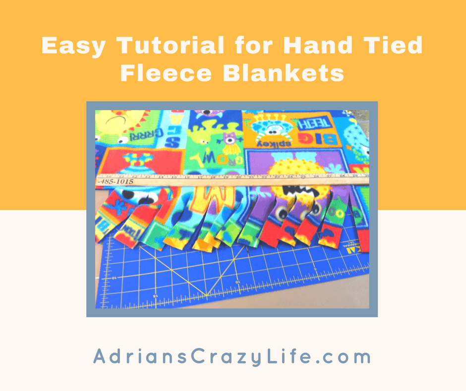 These tied fleece blankets are sooo easy to make. Let me show you how.