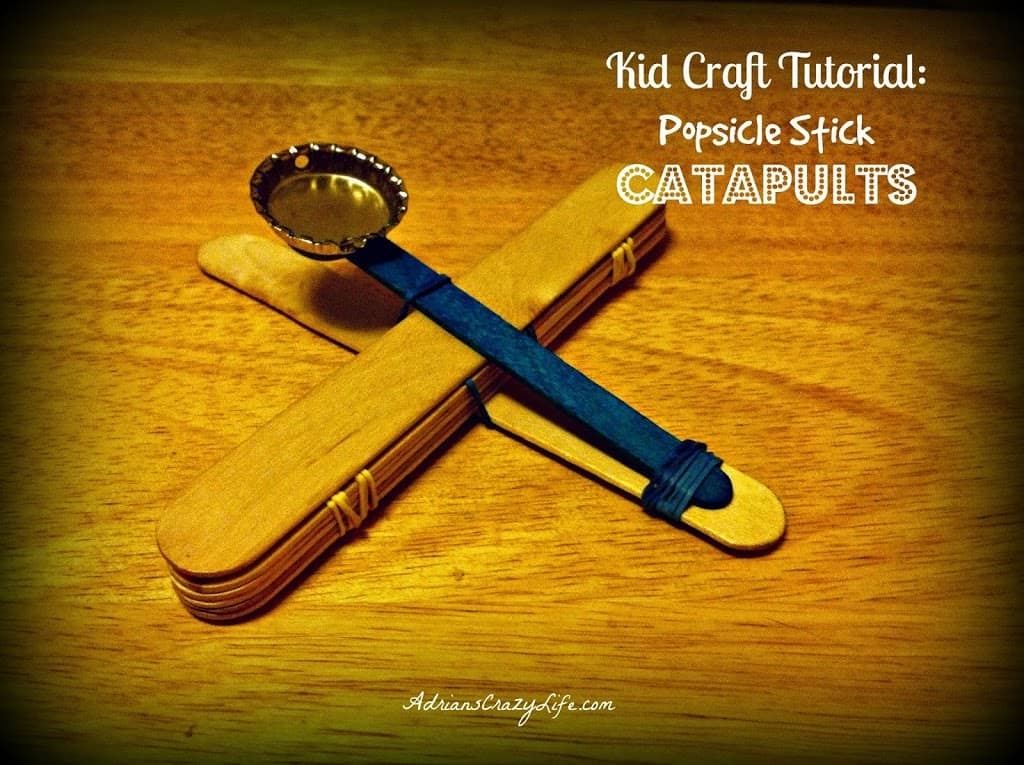 Kids Craft Tutorial: Popsicle Stick Catapuls