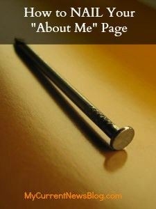 How to NAIL Your About Me Page #AdriansCrazyLife How to optimize your About Me page to give your blog widespread exposure