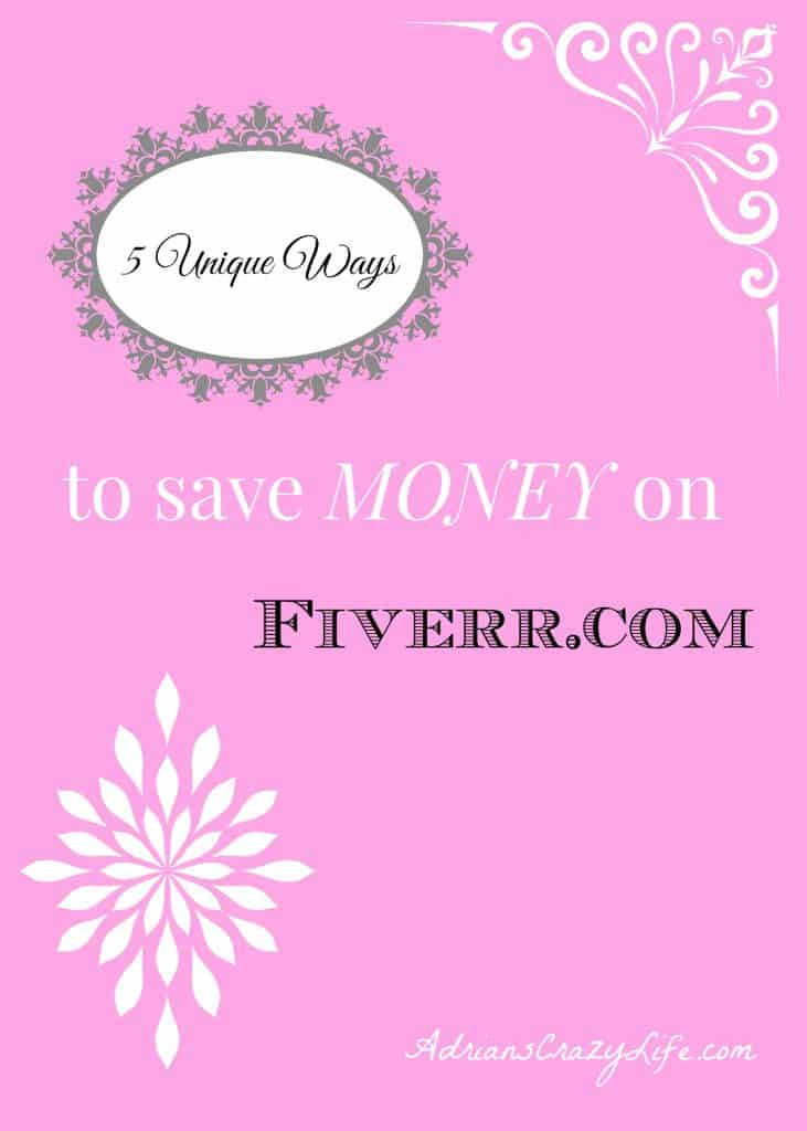 5 Unique Ways to Save MONEY with Fiverr.com @AdriansCrazyLif I share tips on how I both sell AND buy services on Fiverr.com. It's an amazing site