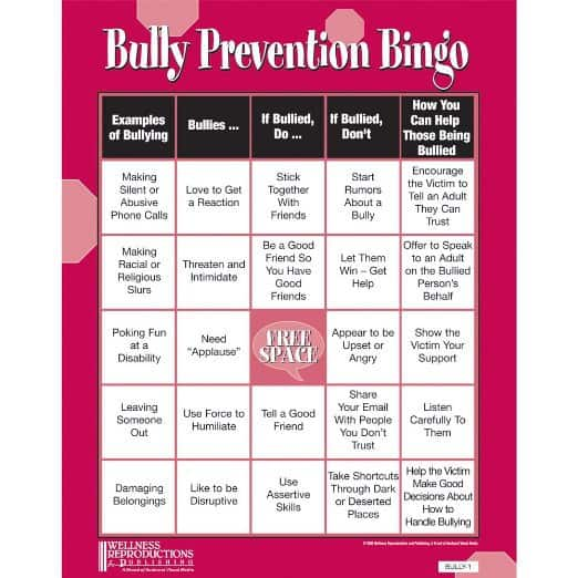 Bully prevention bingo is a great tool to be able to teach your children about bullying.