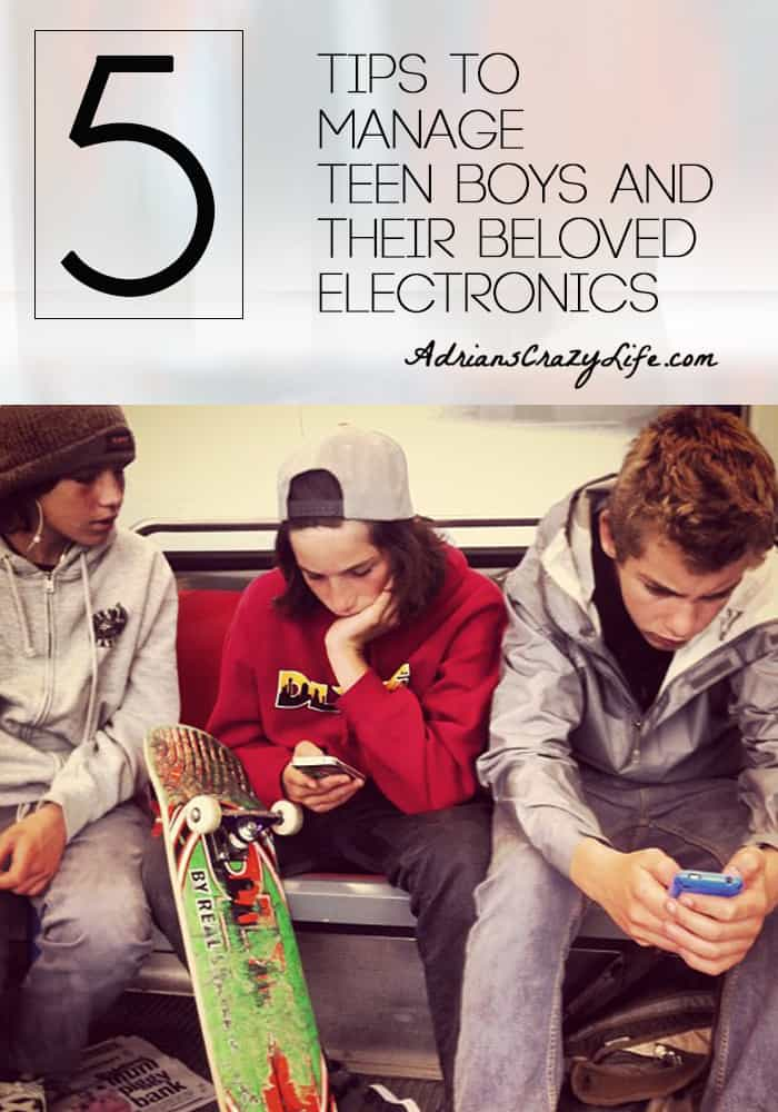 5 Tips to Manage Teen Boys and their Beloved Electronics @AdriansCrazyLif I think this is a serious problem the parents of many boys struggle with. Here are some tips to help.