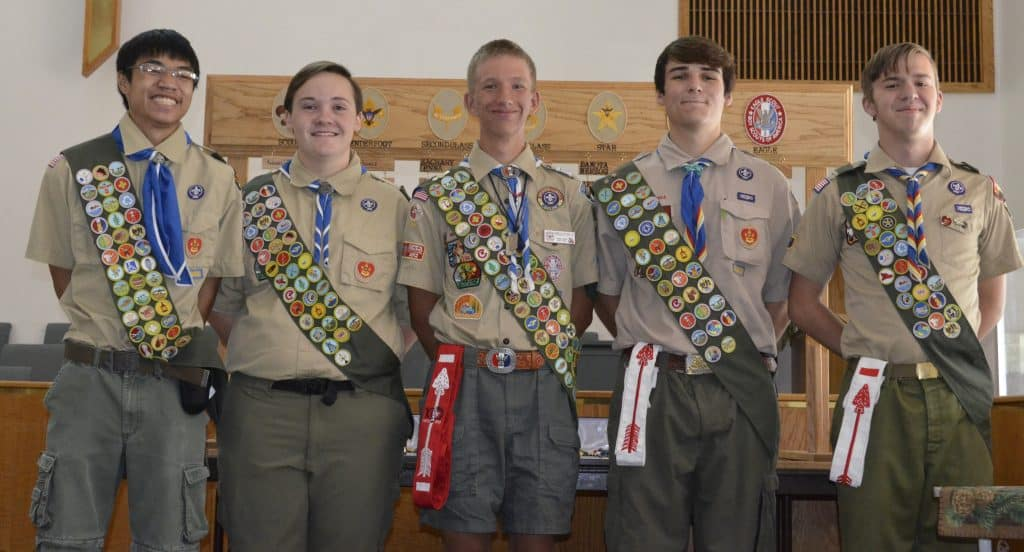 My son at his Eagle Scout ceremony.