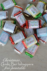 Cute and easy Candy Bar Wrappers from Vanessa at Our Thrifty Ideas