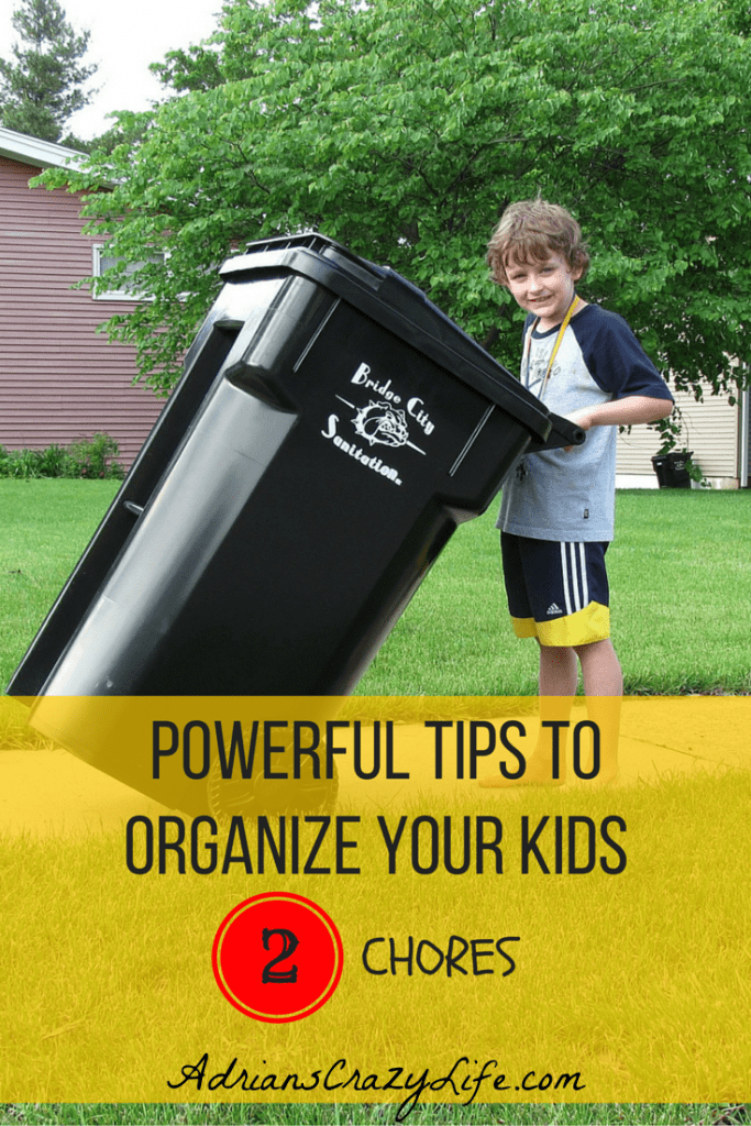 Organizing Tips for your kids - This one is for chores. 3 part series