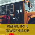 Organizing your kids series. This is the 3rd and last post. It's about taking back your mornings.
