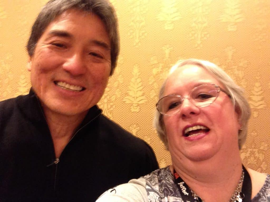 Our keynote speaker Guy Kawasaki and me trying a selfie - poorly