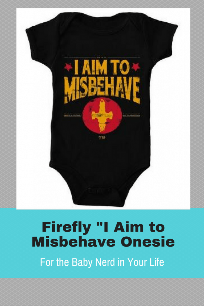 This is priceless! A Firefly onesie for your nerd baby. Also comes in adult sized shirts.