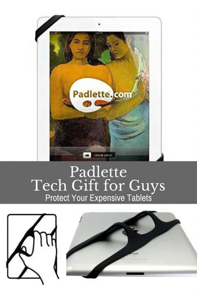 Protect your expensive tablets with the Padlette holder. Also makes for less strain on your arm.