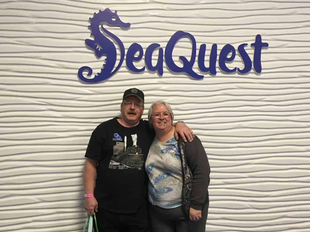 Sign at SeaQuest