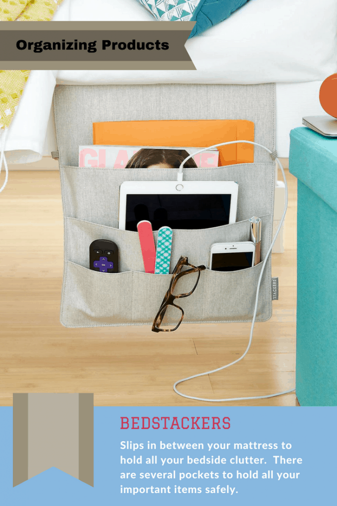 These pockets are amazing for clearing your bedside clutter and storing your items safely.