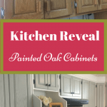 Kitchen Reveal – Painted Oak Cabinets