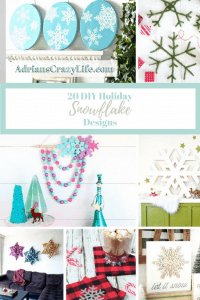 A round up of easy holiday snowflake designs for your holiday decorating.