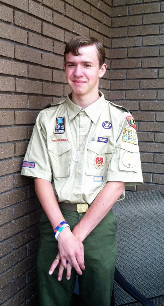 Blake leaving for Scout Jamboree