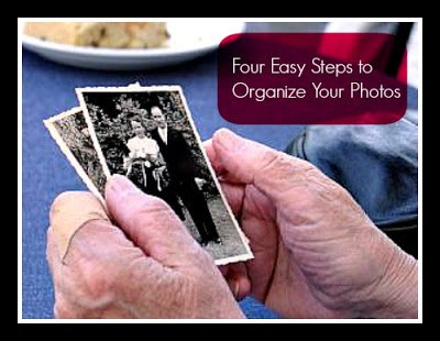 Four Easy Steps to Organize Your Photos @AdriansCrazyLif How many photos do you have lying around your house in shoeboxes?