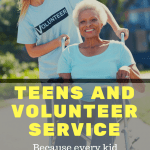 Teens can be a little self-centered. I think volunteer service is so important to center them and give them a positive outlook about themselves and others.