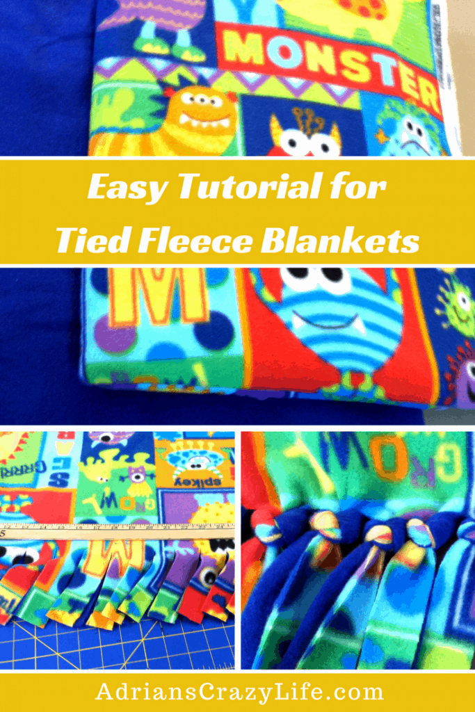 These tied fleece blankets are SOOOO easy to make. Let me show you step by step.