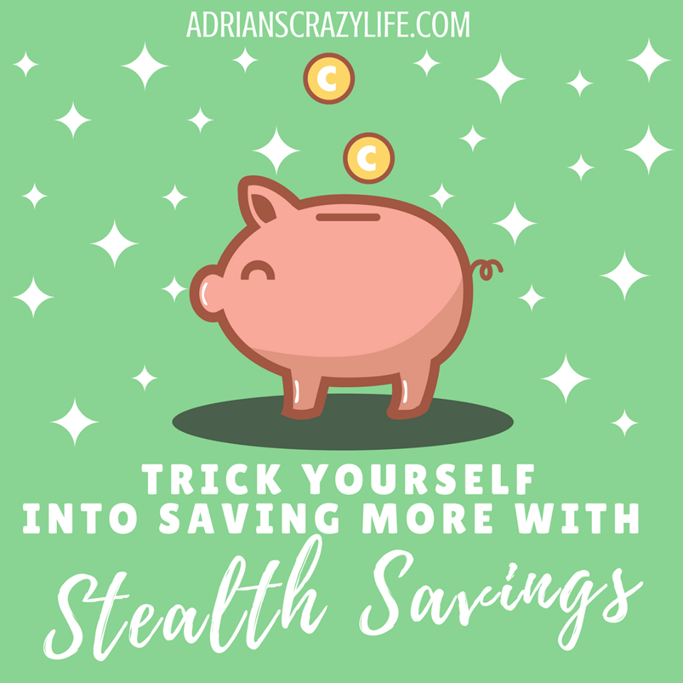 Saving money can be hard.  Trick yourself into saving more with stealth savings.
