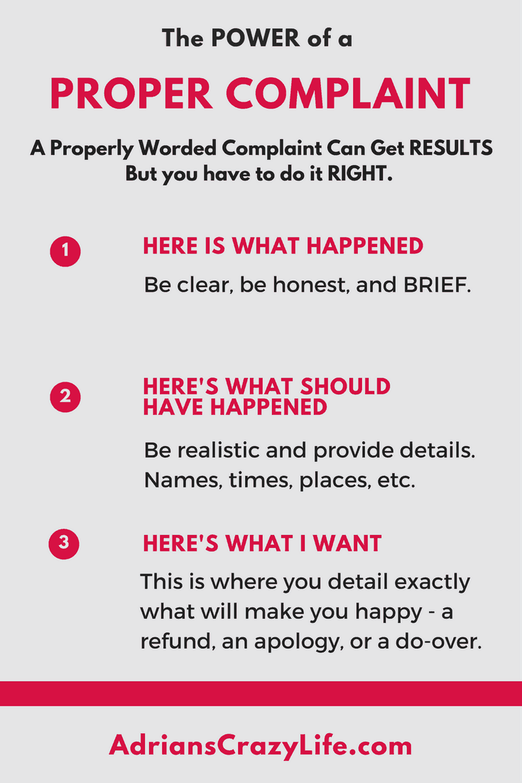 You'd be surprised at what results an effective complaint letter can get you.