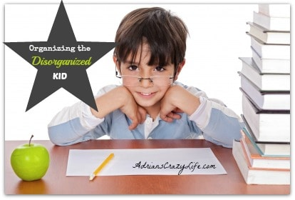 Organizing the Disorganized or ADHD Kid @AdriansCrazyLif These are some great tips plus a book for helping to organize your child and help them do better in school.