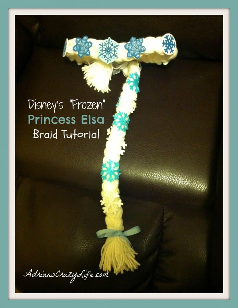 I decided to make an Elsa braid for my granddaughter for Halloween. It was soooo easy to make and this movie is just crazy-popular with little girls.