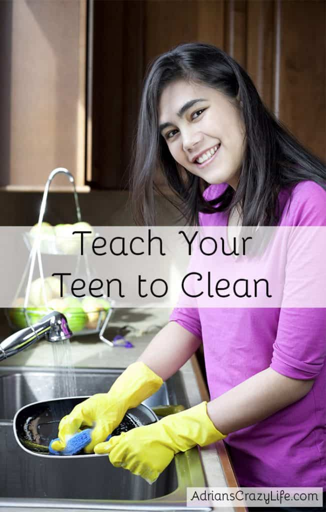 Get Your Teen to Clean #AdriansCrazyLife - Simple technique to get your teen to do their chores.