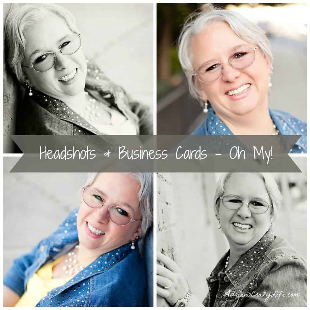 Headshots and Business Cards - Oh My. #AdriansCrazyLife I think EVERYONE should have some headshots done! It's just a great way to present yourself in a professional manner.