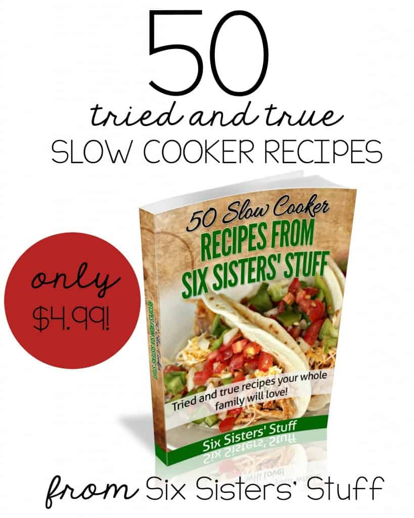 Six Sisters 50 Tried and True Crockpot Recipes 50% off  @AdriansCrazyLife  This is a great collection of proven recipes from one of the most popular cooking blogs in the US and some dang sweet girls.