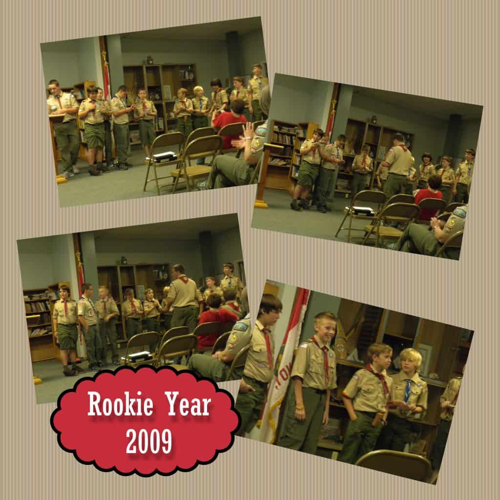 Digital Scrapbooking: Scout pages - 1st Court of Honor. @AdriansCrazyLif This was their first Court of Honor as Rookie Scouts. It's so funny to see how tiny they all were!