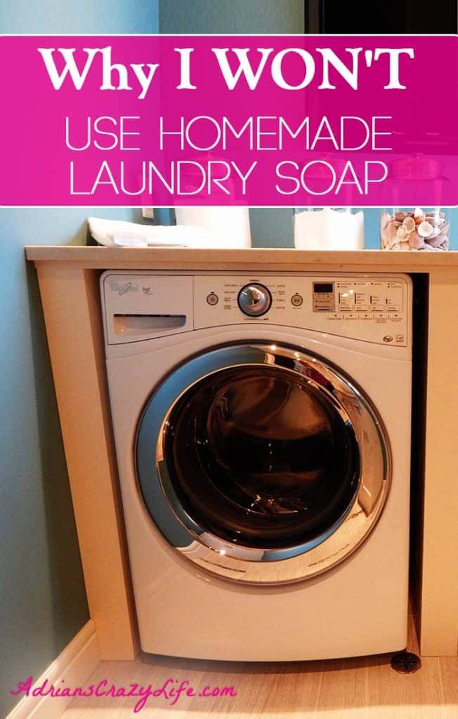 I will NOT use home made laundry soap, and here's why.  @AdriansCrazyLif