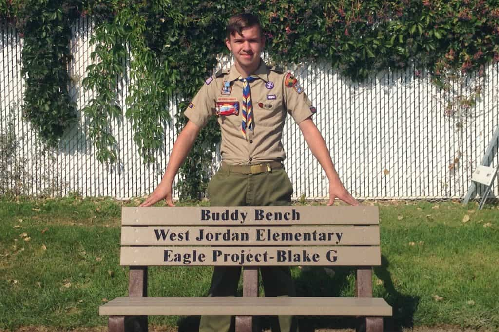 My son's Eagle Project - the Buddy Bench