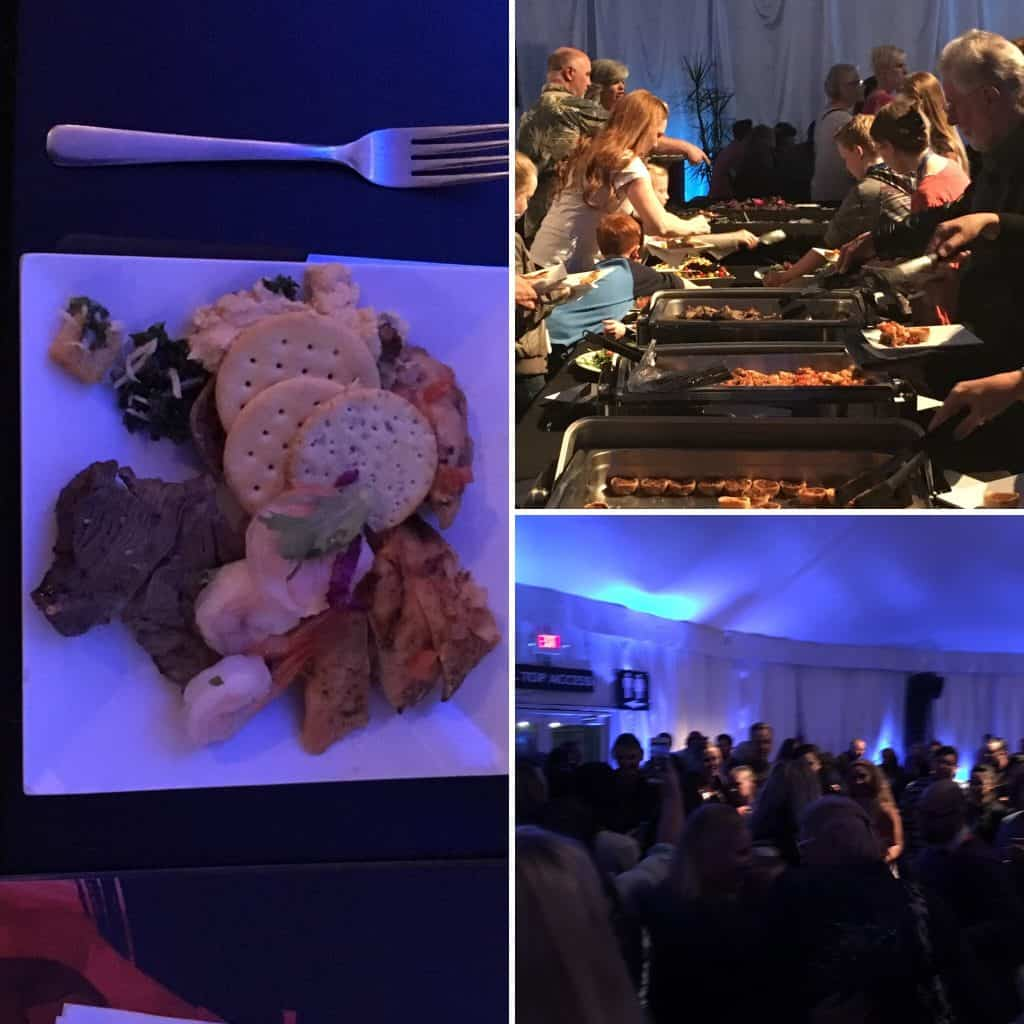 Sumptuous buffet at the Odysseo VIP tent