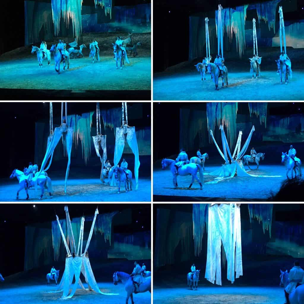 The acrobats of Odysseo are from 9 different countries and are amazing acrobats, trick riders, and musicians.