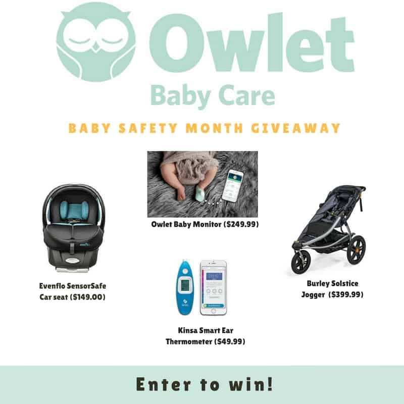 Owlet is offering a baby safety giveaway on my blog.