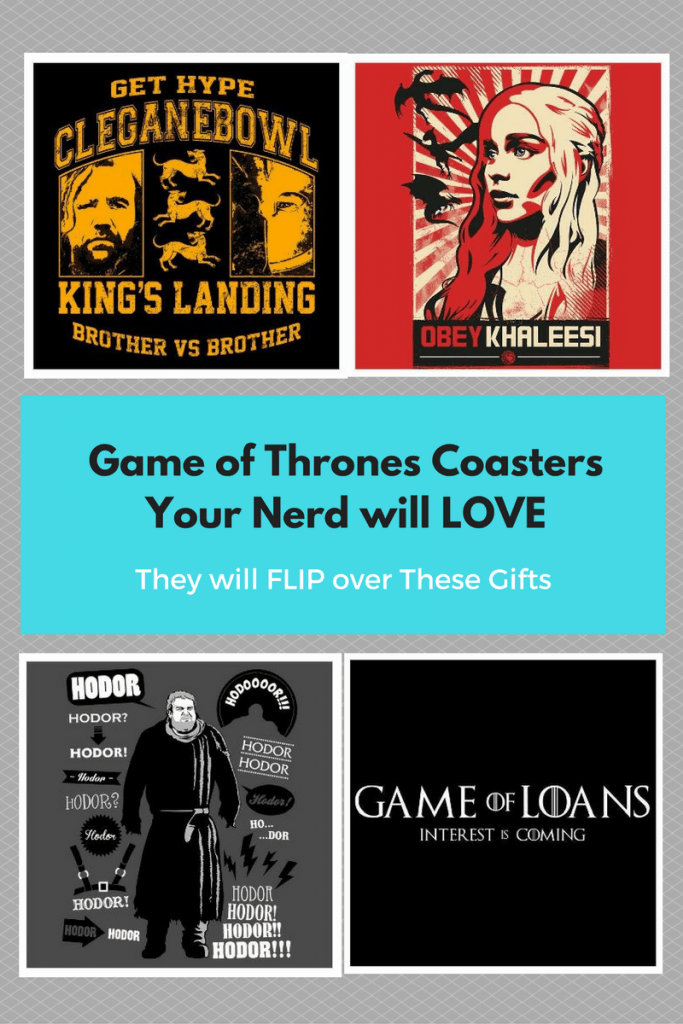 These Game of Thrones Coasters are so fun. Your friends will LOVE them.