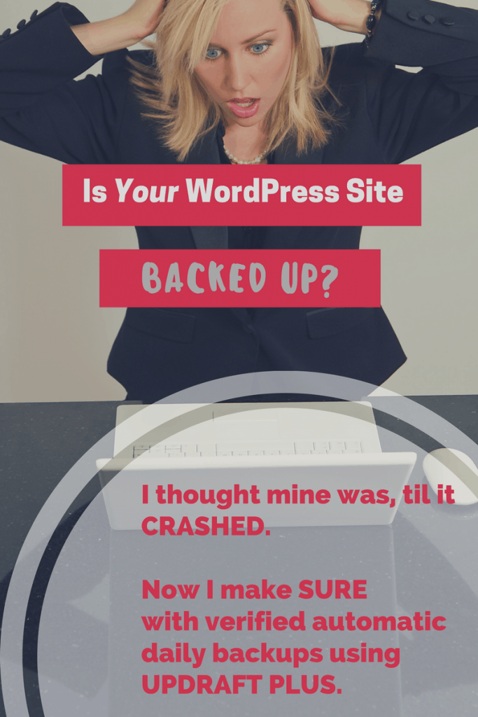 Learn from my mistakes and use Updraft Plus to backup your site.