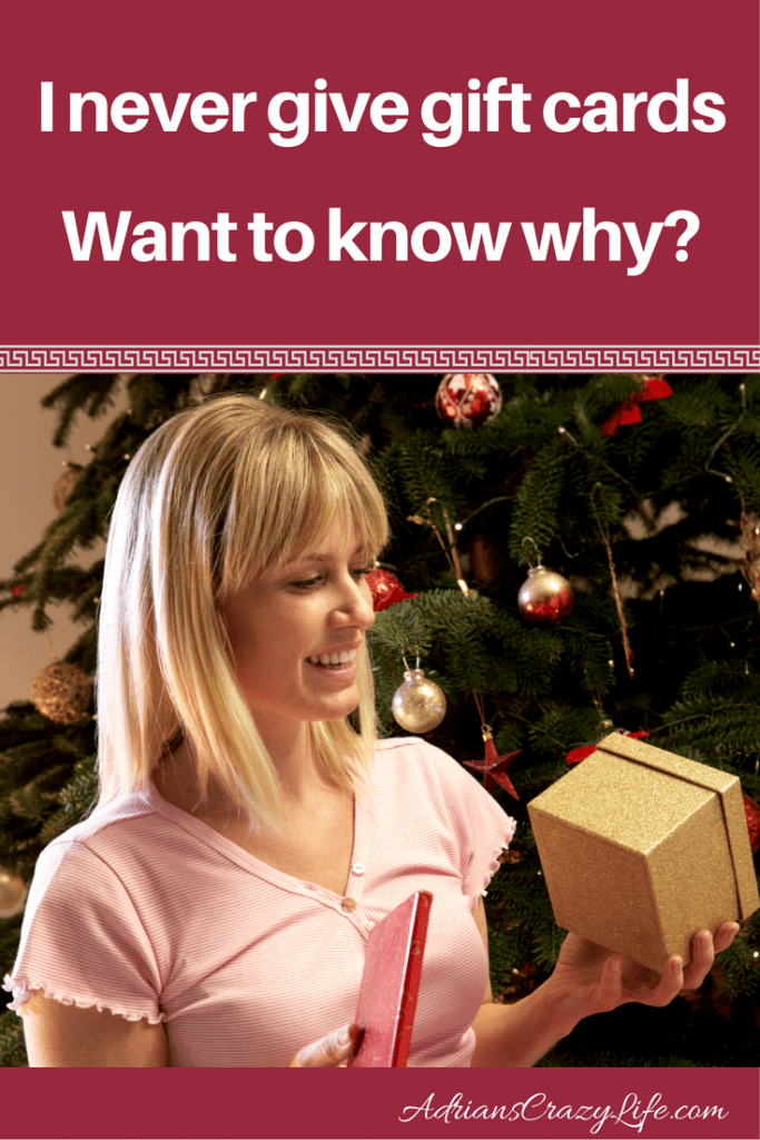 Presents or gift cards? I always choose the presents. Want to know why?
