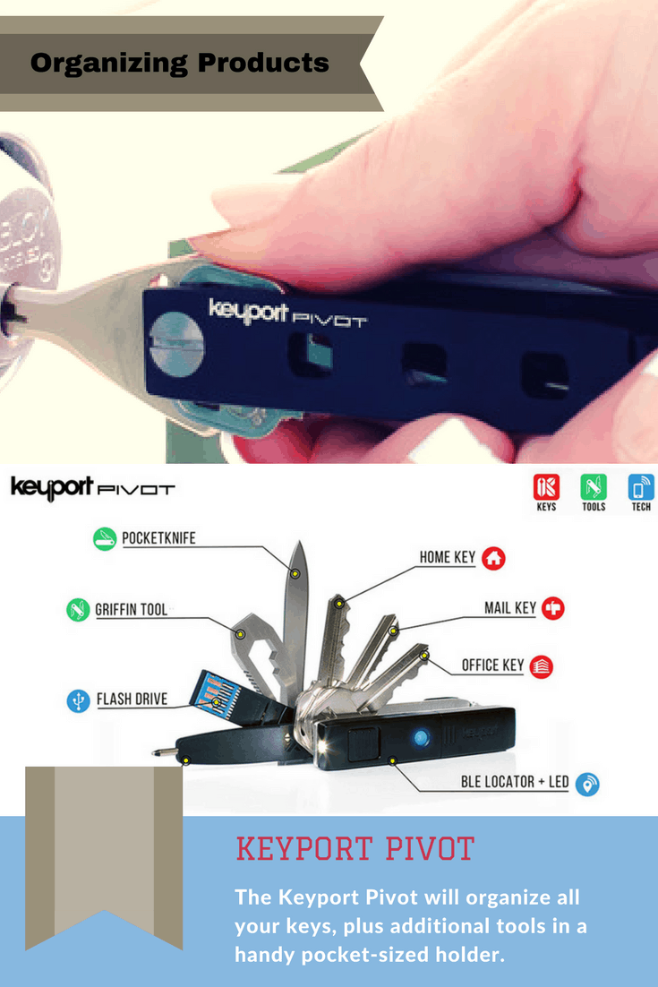 Brilliant and versatile multi-tool to organize your keys in an elegant way.