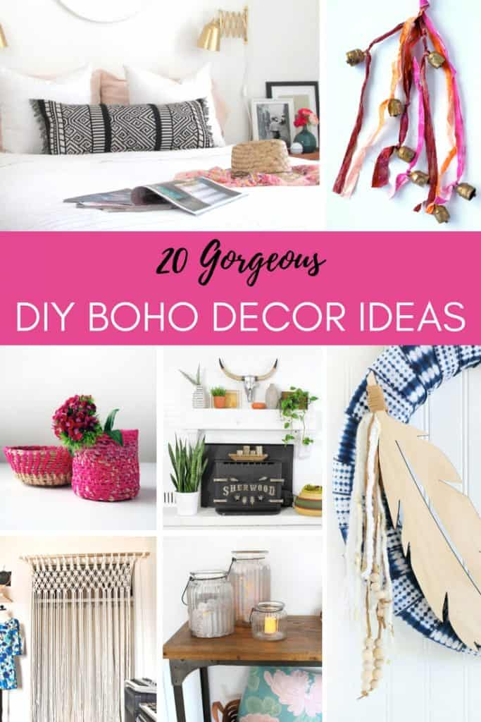 Boho decor is one of the hottest trends in home decor. It adds that unique gypsy touch that adds character to a room. Here are 20 great examples you can make yourself.