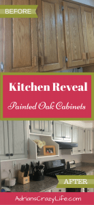 Kitchen reveal - our brand new painted oak cabinets. It's gorgeous and was easier than you'd think.