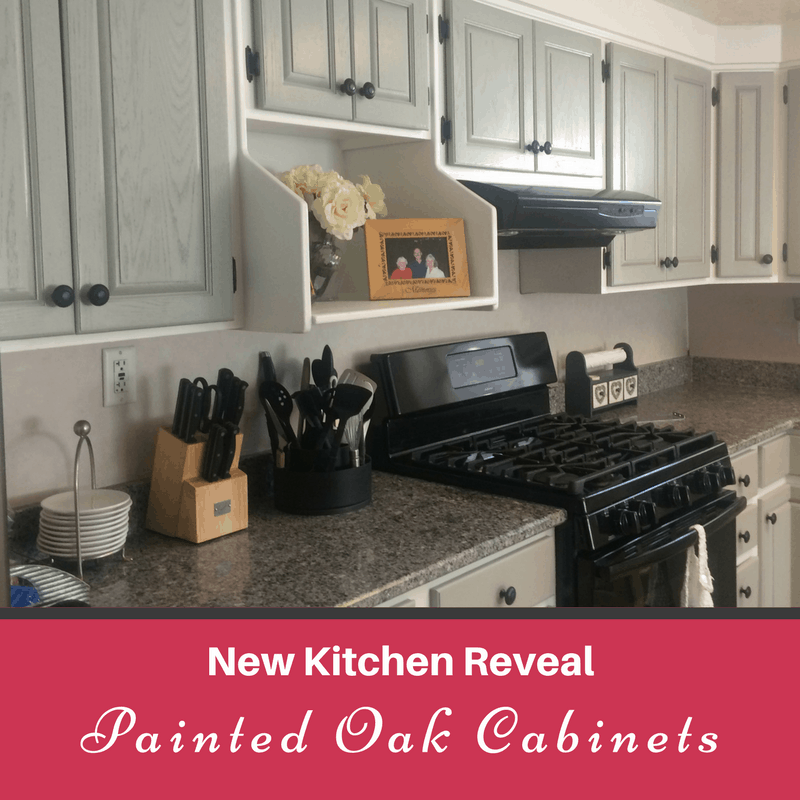 We've been doing a great kitchen remodel including painted oak cabinets to update our home.
