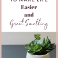 Decluttering, organizing, and cleaning are all very intricately linked topics. The cleaning is kind of useless without the decluttering and organizing steps. Shiny and scrubbed clutter still looks pretty messy! Tips to clean your house and make it smell GREAT!