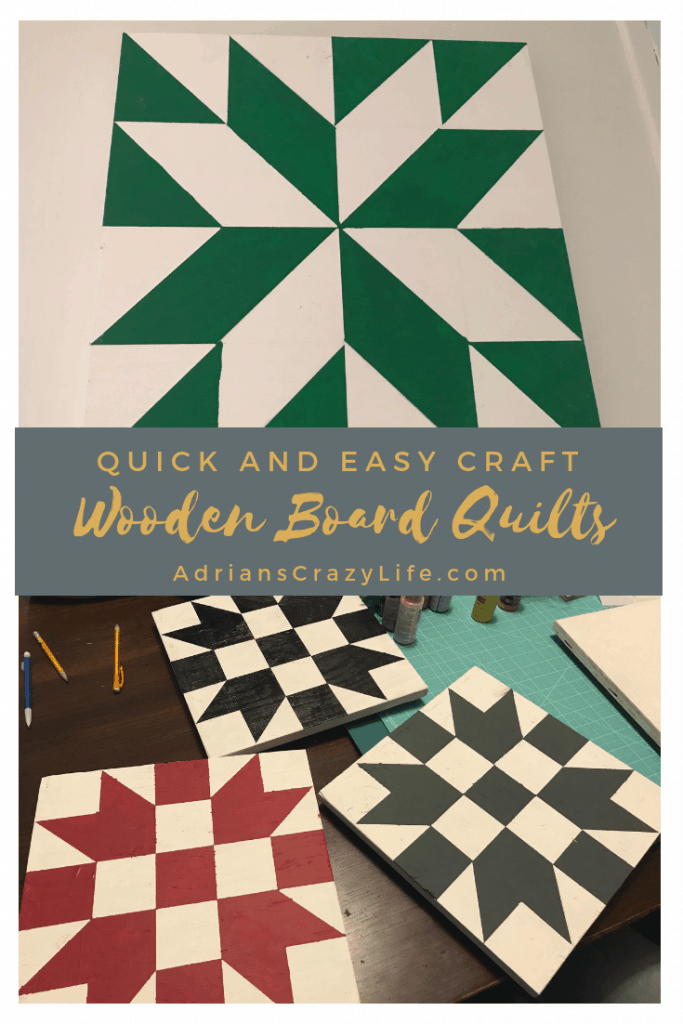 Super Easy Craft Wooden Board Quilts Adrian S Crazy Life