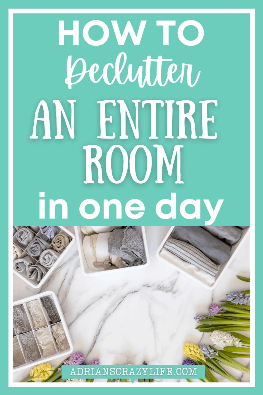 Declutter an Entire Room